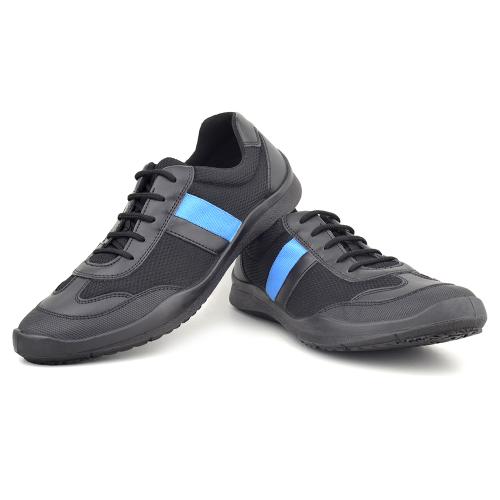 Unisex Black Blue Lace up Shoes Champion200