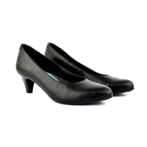 Black Slip On Court Shoes Flair200R
