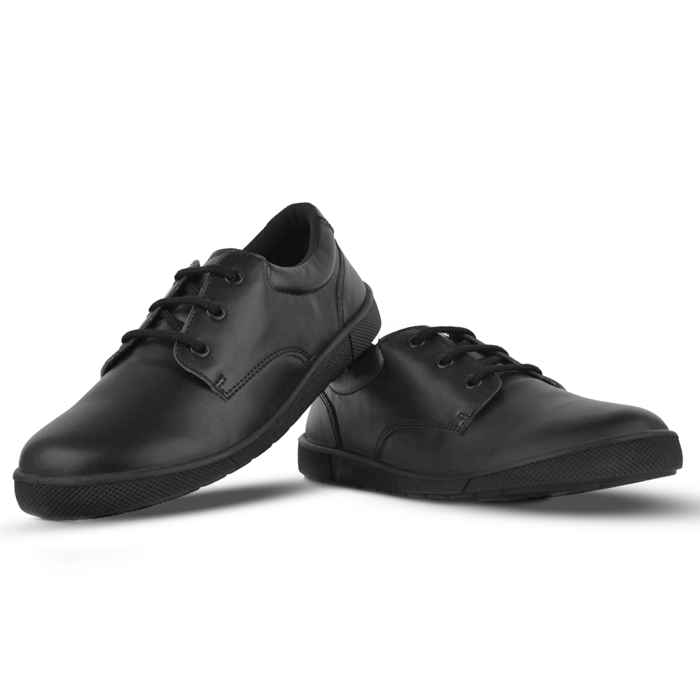 Boys Black Lace Up Shoes Gusto200