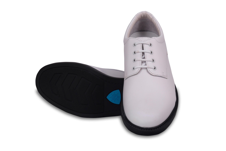 Mens White Derby Shoes Elan 200RPU